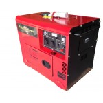 DIESEL GENERATOR, 8KVA SILENCED, 240V SINGLE PHASE AC / 12V  8.3AMP DC OUTLETS REMOTE START BIO-DIESEL READY