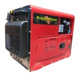 DIESEL GENERATOR, 8KVA SILENCED 240V SINGLE / 415V THREE PHASE AC AND 12V 8.3AMP DC OUTLETS WITH REMOTE CONTROL START ,BIO-DIESEL READY